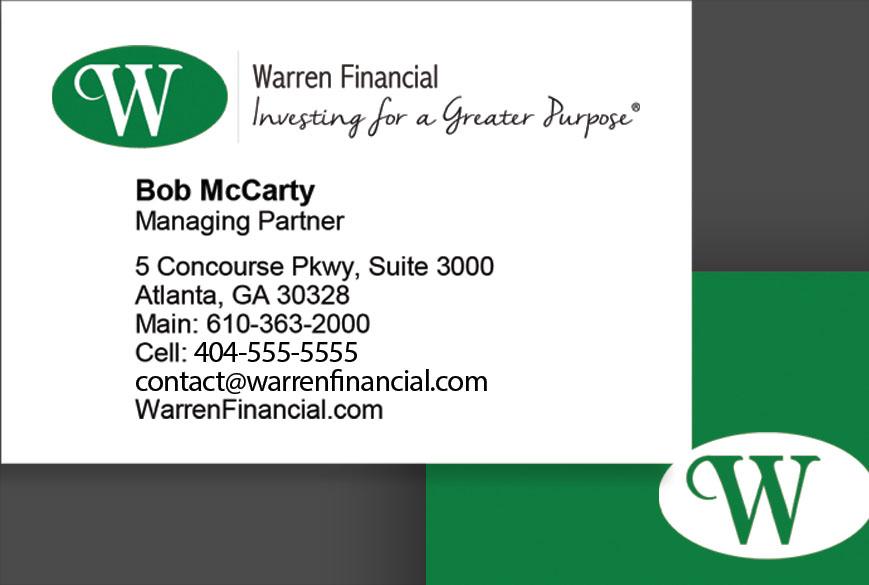 Warren Financial business card